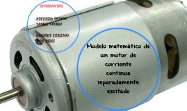 Modelo matemático de un motor de corriente
