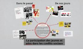La participation des jeunes et ados dans les conflits sociau