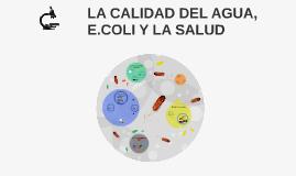 LA CALIDAD DEL AGUA, E.COLI Y LA SALUD