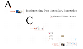 Implementing Post-Secondary Immersion