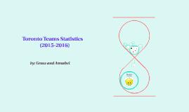 Toronto Teams Statistics
