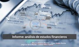 Informe: análisis de estados financieros