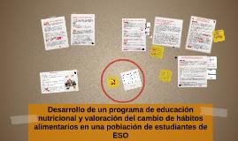 Desarrollo de un programa de educación nutricional y valorac