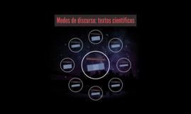Modos de discurso: textos científicos