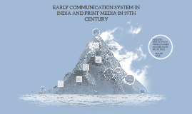 Copy of EARLY COMMUNICATION SYSTEM IN INDIA AND PRINT MEDIA IN 19TH