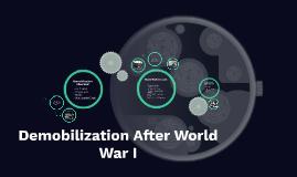 Demobilization After WWI