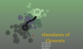 Abundance of elements