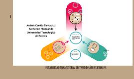 Estabilidad Transitoria: Criterio De Áreas Iguales