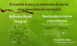El acuerdo de paz y la Reforma Rural Integral