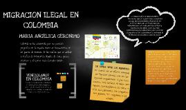 MIGRCION ILEGAL EN COLOMBIA