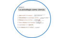 tema 1 - La psicología como ciencia