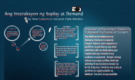 Copy of Ang Interaksyon ng Suplay at Demand