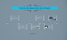 Historia de desarrollo de software