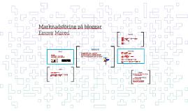 Marknadsföring på bloggar