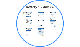 Activity 1.7 and 1.8