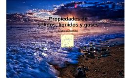 Química básica: Sólidos, líquidos y gases