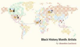 black history month: black artists