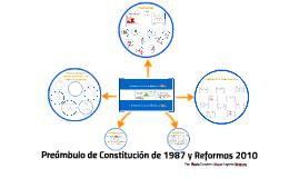 Preambulo de Constitución de 1987 y Reformas del 2010