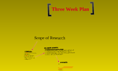 three wk plan