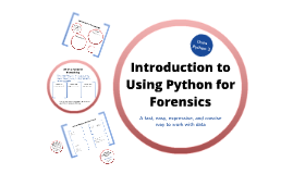 Python Tutorial w/Forensics Emphasis