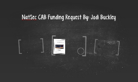 NatSec CAB Funding Request By: Jodi Buckley