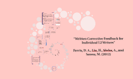 Written Corrective Feedback for Individual L2 Writers