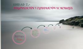 Unidad 7.- Organizacion y elaboracion de mensajes