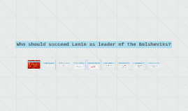 Who should succeed Lenin as leader of the Bolsheviks?