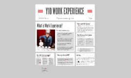 Y10 WORK EXPERIENCE 2018