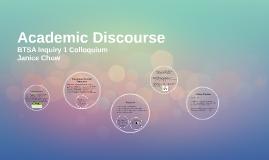 BTSA Inquiry 1: Academic Discourse