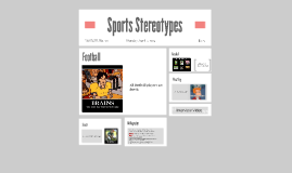 Sports Stereotypes