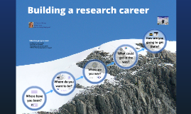 Building a research career