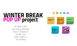 Winter Break Pop-Up Project