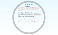 Warm Up Science