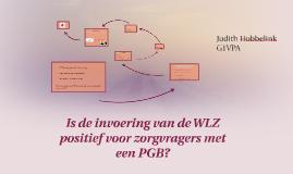 Is de invoering van de WLZ positief voor zorgvragers  met een PGB?