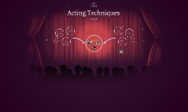 Acting Methods