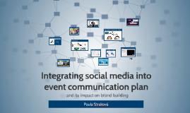Integrating social media into event communication plan