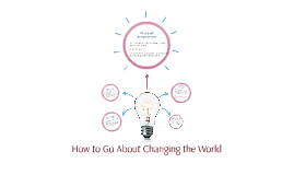 How to Go About Changing the World