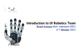 Introduction To UI Robotics Team