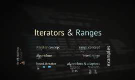 Iterators & Ranges