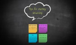 Tips for starting