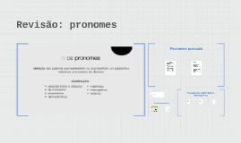 Revisão: pronomes
