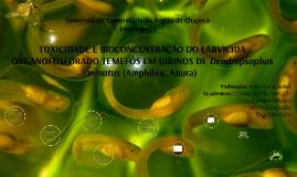 Toxicidade e Bioconcentração Temefós
