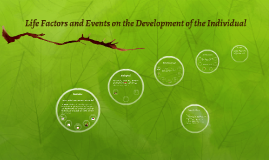 Life Factors and Events on the Development of the Individual