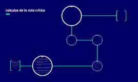 calculos de la ruta critica