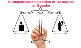 El empoderamiento político de las mujeres