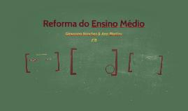 Reforma do Ensino Médio