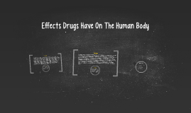 Effects Drugs Have On The Human Body