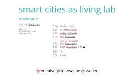 2013 Iot Event Smart cities as living lab