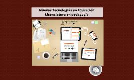 Nuevas Tecnologías en Educación